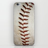 Vintage Baseball Stitchi… iPhone & iPod Skin