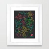 Squid Wars Framed Art Print
