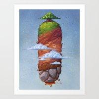 Island in the Sky Art Print