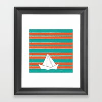 PaperBoat Framed Art Print