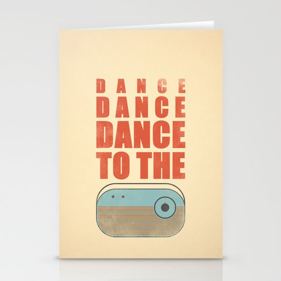 Dance To The Radio! Stationery Card