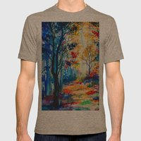 Forest Mens Fitted Tee Tri-Coffee SMALL