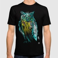 Owl Mens Fitted Tee Black SMALL