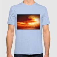 sunrise in the sea Mens Fitted Tee Tri-Blue SMALL
