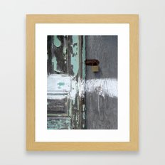 Hidden within Santorini, Greece Framed Art Print