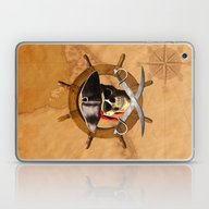 Laptop & iPad Skin featuring Jolly Roger Pirate Wheel by MacDonald Creative S…