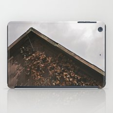 Camouflage - Red Leaves on Barn iPad Case