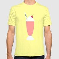 #18 Milkshake Mens Fitted Tee Lemon SMALL