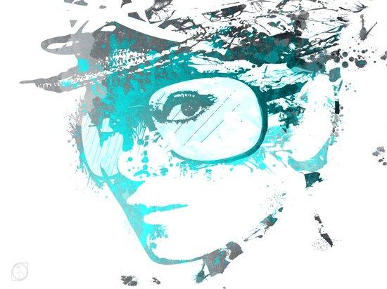 Audrey splash Cool Blue Art Print