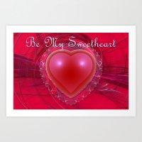 Be My Sweetheart Art Print