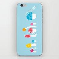 Mushroom Maintenance Blue iPhone & iPod Skin