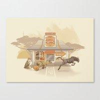Fast Food (Jungle King) Canvas Print