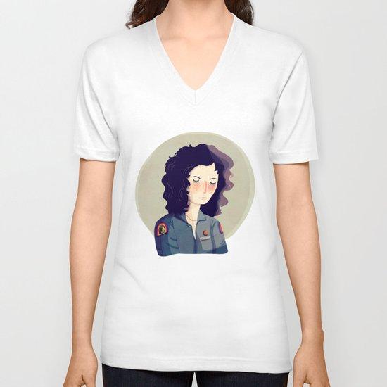 Last Survivor of the Notsromo V-neck T-shirt