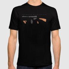 Thompson Machine Gun Mens Fitted Tee SMALL Black