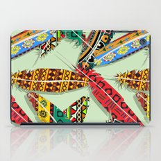 Boho Feather Pattern 2 iPad Case