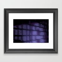 Purplights Framed Art Print