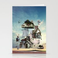 house Stationery Cards featuring house by Кaterina Кalinich