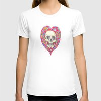 Skulladelia Womens Fitted Tee White SMALL