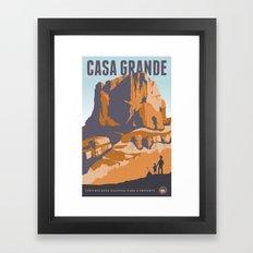 Big Bend Travel Poster Framed Art Print