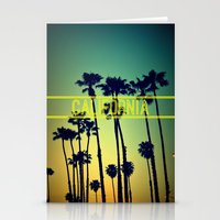 california Stationery Cards featuring CALIFORNIA by RichCaspian