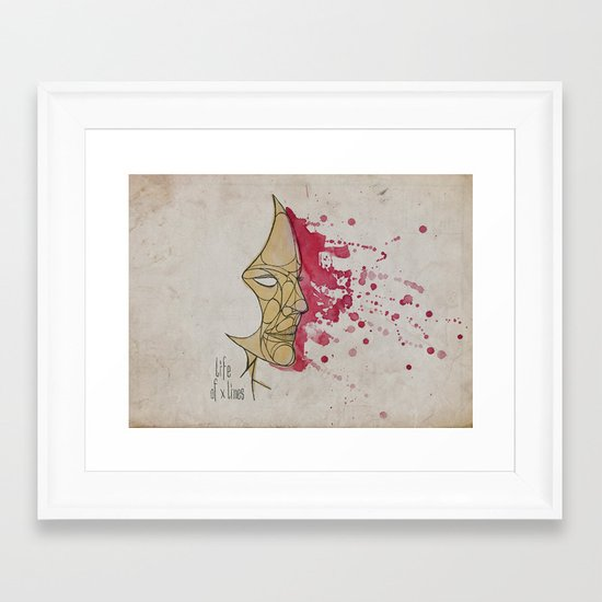 LadyPink Framed Art Print