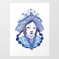 Baby Blue #3 Art Print
