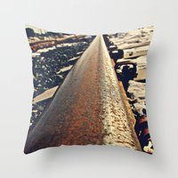 Tacoma train tracks Throw Pillow