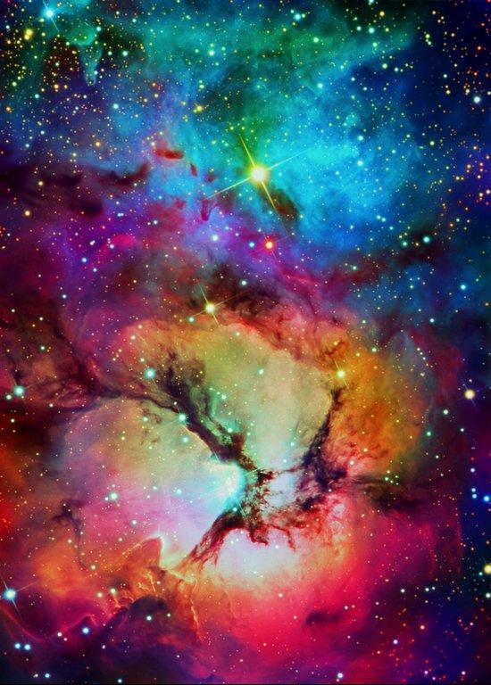 Floral Nebula Art Print