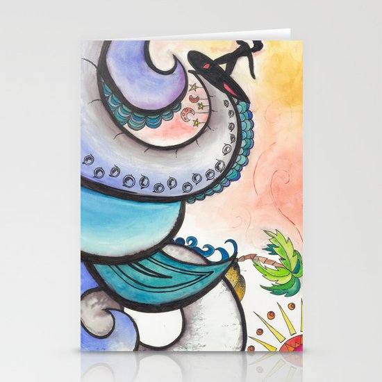 Surf Stationery Card