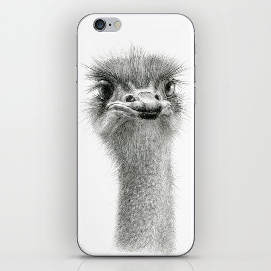 Cute Ostrich Expression SK055 iPhone & iPod Skin