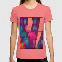 Finger (Glass) Painting Womens Fitted Tee Pomegranate SMALL