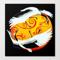 Japanese (Red-Crowned) C… Canvas Print