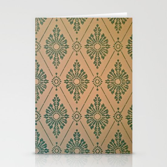 Green Stationery Card
