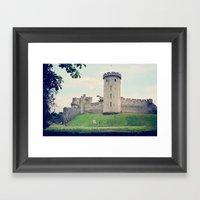 Beyond The Castle Walls Framed Art Print