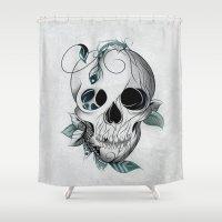 Skull Boho  Shower Curtain
