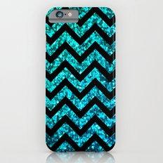 Chevron Aqua Sparkle iPhone 6s Slim Case