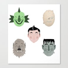 The Happy Monster Squad Canvas Print