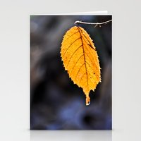 Orange Leaf Stationery Cards