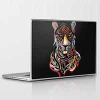 tiger Laptop & iPad Skins featuring Tiger by Felicia Atanasiu