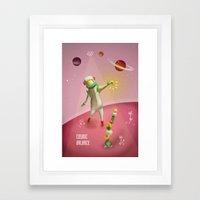 Cosmic balance Framed Art Print