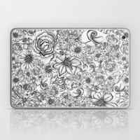 B&W Flowers  Laptop & iPad Skin