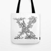 Letter 'X' Monochrome Tote Bag