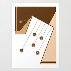 Motion. Art Print