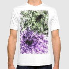 Hidden Faces White Mens Fitted Tee SMALL