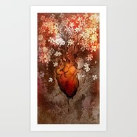 This Bleeding Blossoming… Art Print