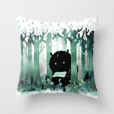 A Quiet Spot (in green) Throw Pillow