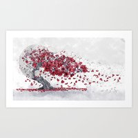 cherry blossom Art Prints featuring Cherry blossom by Marine Loup