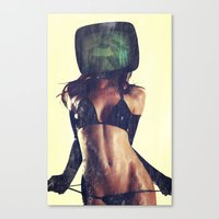 SEX ON TV LATEX by ZZGLAM Canvas Print