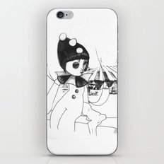 Pierrot the clown iPhone & iPod Skin