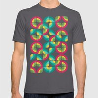 Passion Fruit Pattern Mens Fitted Tee Asphalt SMALL